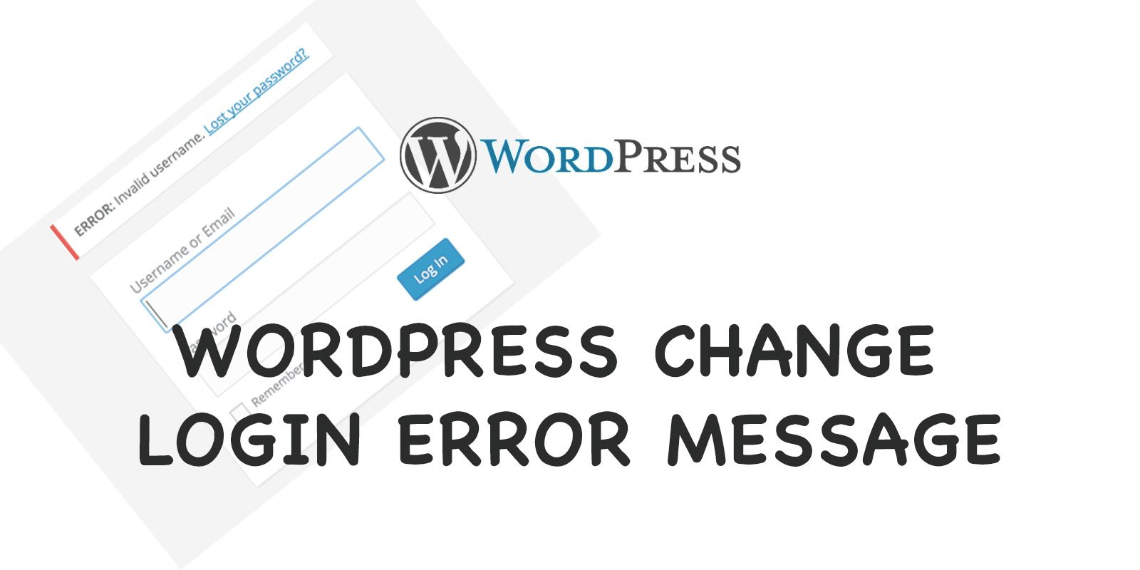 wordpress change login error message